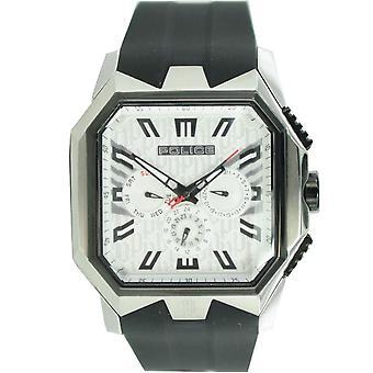 Police mens watch wrist watch silicone analog Chrono PL 12893JSSB/04