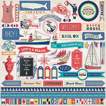 Yacht Club Cardstock Stickers 12