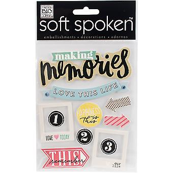 Soft Spoken Themed Embellishments-Sisters Side By Side