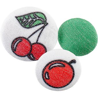 Fabricraft - Fabric Covered Buttons 8/Pkg-Cherries