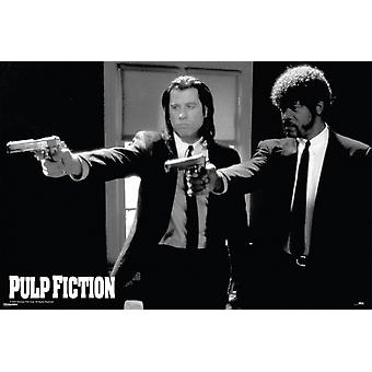Pulp Fiction Guns  Poster Poster Print