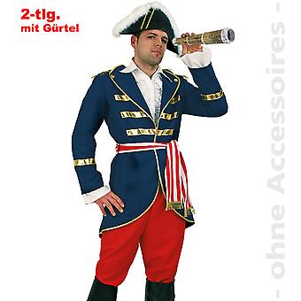 Admiral costume men's captain costume Lord Nelson Captain mens costume