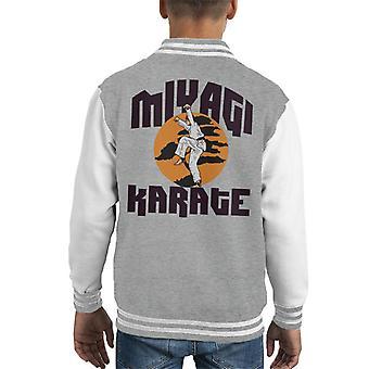 Karate Kid Miyagi School Kid Varsity Jacket