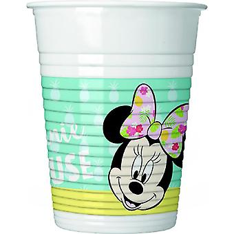Minnie tropical mouse party Cup ca 200 ml birthday 8 pieces