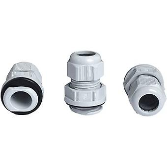 Jacob K341-1020-00 Cable gland with strain relief M20 Polyamide Grey-white (RAL 7035) 1 pc(s)