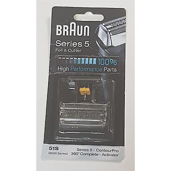 NEW Braun 51S Series 5 Electric Shaver Replacement Foil and Cassette Cartridge - Silver