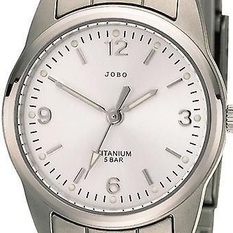JOBO дамы наручные часы кварцевые аналоговые мужская часы титана