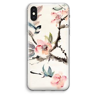 iPhonegeval XS Max transparant (Soft) - Japenese bloemen