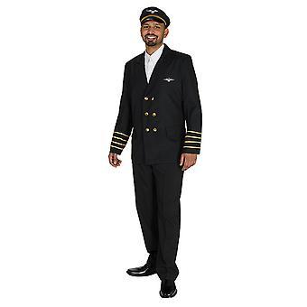 Giacca pilota capitano pilota volo vestito costume per gli uomini
