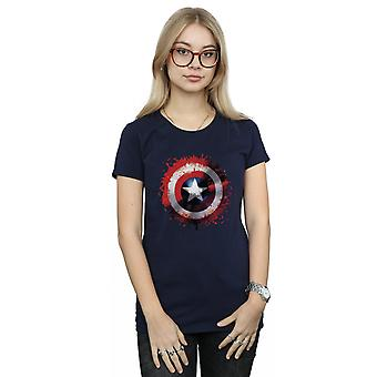 Marvel Women's Avengers Captain America Art Shield T-Shirt