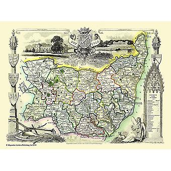 Old Map of Suffolk 1836 by Thomas Moule 1000 Piece Jigsaw Puzzle (jhg)