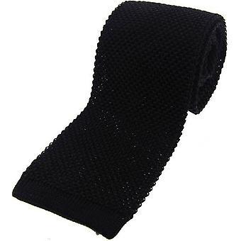 David Van Hagen punto corbata de seda - negro