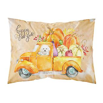 Fall Harvest Bichon Fris� Fabric Standard Pillowcase