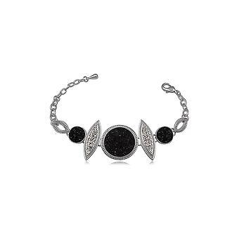 黒水晶ブレスレット/ラインス トーン