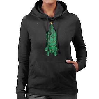 NASA Challenger Shuttle Christmas Tree Women's Hooded Sweatshirt