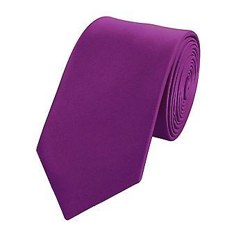 Schlips Krawatte Krawatten Binder Schmal 6cm dunkel lilla von Fabio Farini