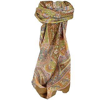 Шелковица шелка традиционными квадратный шарф Камби каштан, пашмины & шелка