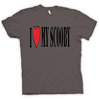القميص النسائي--أنا أحب بلادي سوبارو سكوبي-سيارات