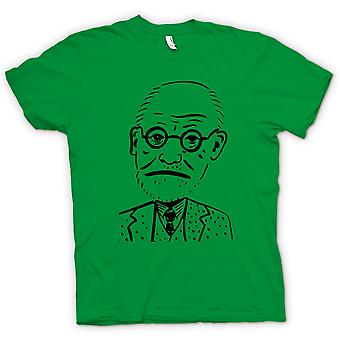 Mens T-shirt - Sigmund Freud - Psychology - Caricature