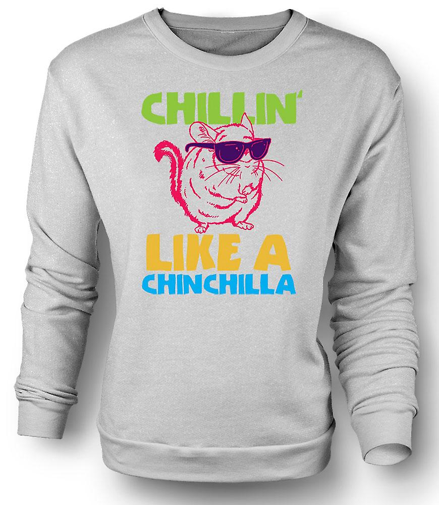 Mens Sweatshirt Chillin som en Chinchilla