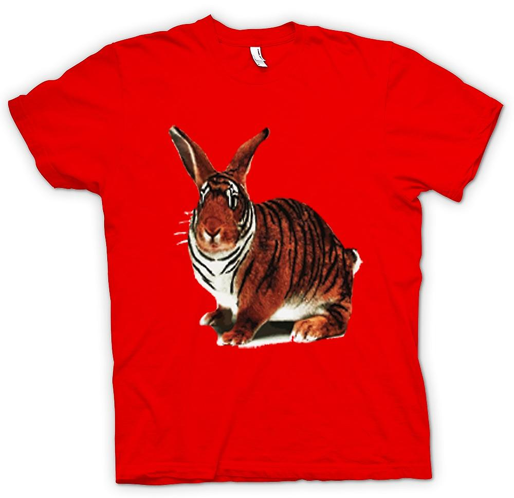 Hommes T-shirt - Tiger Lapin Pop Art Design
