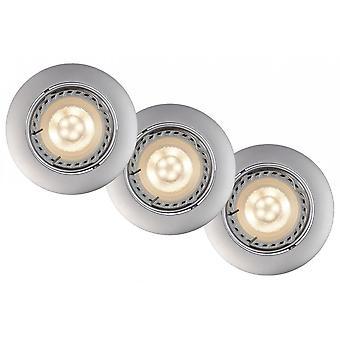 Lucide Focus Modern Round Aluminum Grey Recessed Spot Light