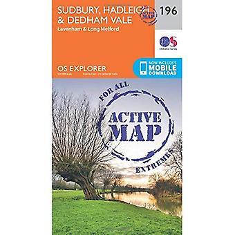 OS Explorer kaart actief (196) Sudbury, Hadleigh en Dedham Vale (OS Explorer actieve kaart)