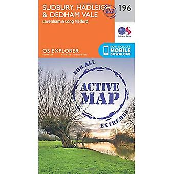OS Explorer Map Active (196) Sudbury, Hadleigh and Dedham Vale (OS Explorer Active Map)