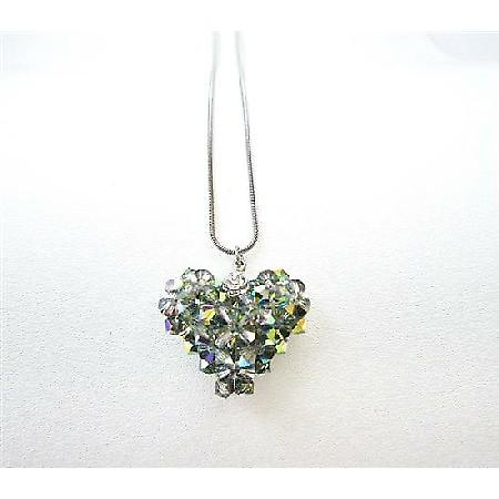 Handmade Swarovski Crystals Vitral Medium Crystals Pendant Necklace