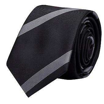 Tie cravate cravate cravate noir 6cm gris rayé Fabio Farini