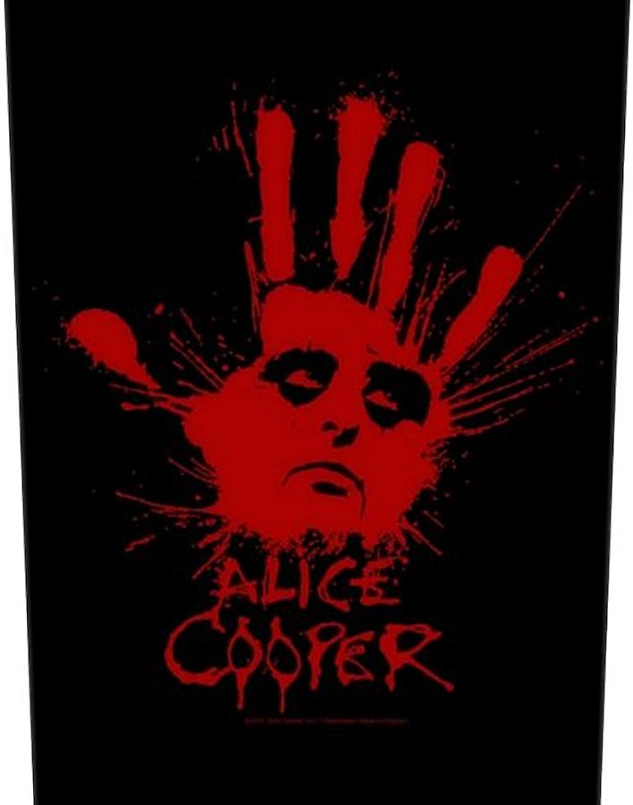 Alice Cooper Splattered Hand large sew-on back patch  (mm)