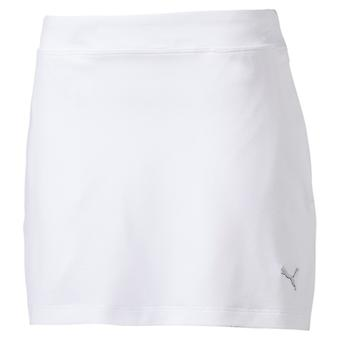 PUMA Girls Solid Knit Skirt Kinder Rock Bright Weiss