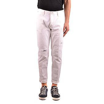 Pt05 Reggae White Cotton Jeans