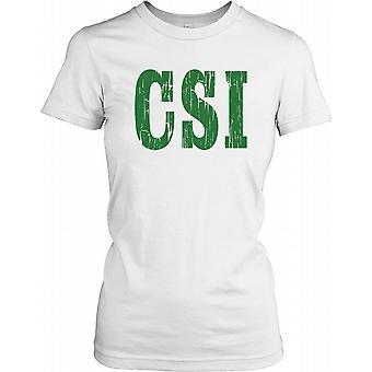 CSI - camisa de las señoras T de investigación de escena de crimen
