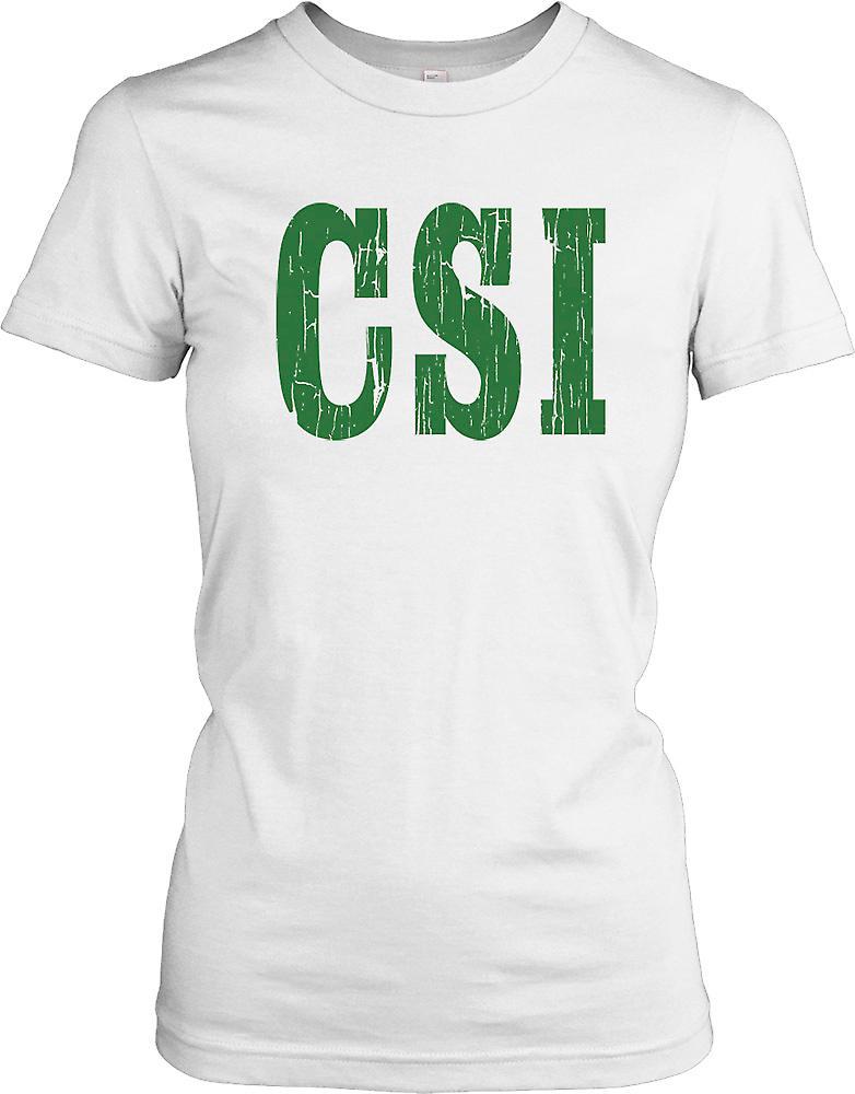CSI - Crime Scene Investigation Ladies T Shirt