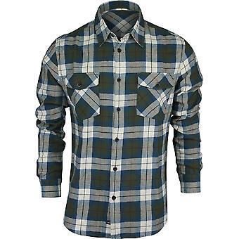 Quiksilver Mens Waterman Collection Wade Creek Long Sleeve Shirt - Beetle Green