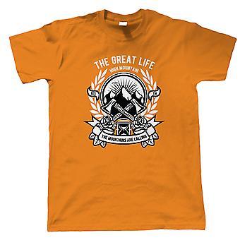 Mountain økse Herre T-Shirt | Vandretur land Canyon Mountain Trek Gear ørkenen | Udendørs gave ham