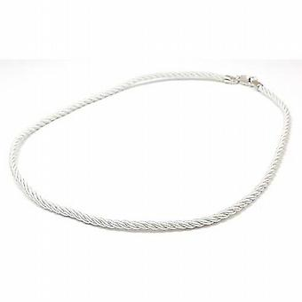 The Olivia Collection Twisted Rope Necklace with Sterling Silver Clasp