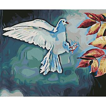 Artventura White Dove Stretched Canvas Extra Large Paint By Numbers