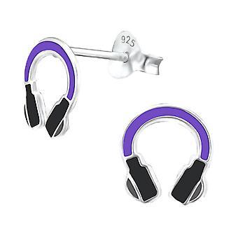 Children's Sterling Silver Headphones Stud Earrings