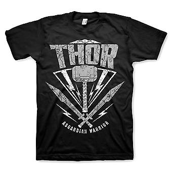 Mænds Thor Ragnarok asgardian Warrior sort T-shirt