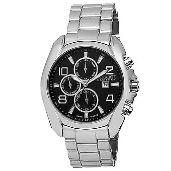 August Steiner Men's AS8109 Swiss Quartz Month Day Date GMT Bracelet Watch AS8109SS