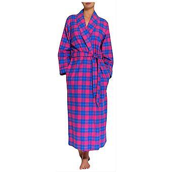 British Boxers tartan due piega flanella robe-rosa/blu