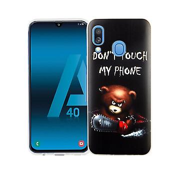 Samsung Galaxy A40 King Shop Phone Case Protect-Case Cover Bumper Dont Touch My Phone Bear