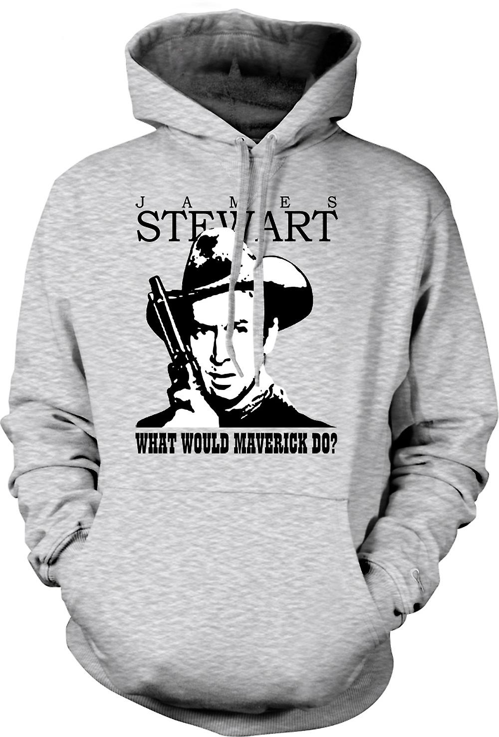 Mens Hoodie - James Stewart - Maverick Cowboy
