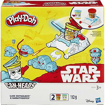 Play-Doh Star Wars Cans 2 Pack-Luke Skywalker & Snowtrooper