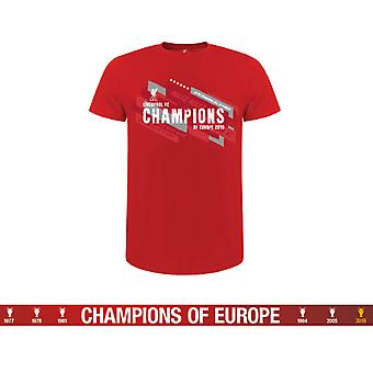 Liverpool Champions of Europe T Shirt Junior 5/6