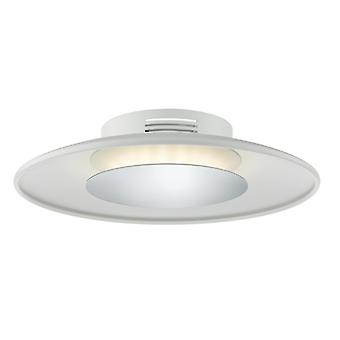 Worcester Led Small Ceiling Flush White & Polished Chrome