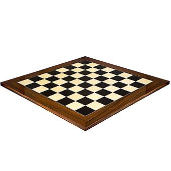 23.6 Inch Black Anegre and Palisander Deluxe Chess Board