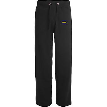 Prince of Wales Own Regiment Of Yorkshire PWRR TRF - Licensed British Army Embroidered Open Hem Sweatpants / Jogging Bottoms